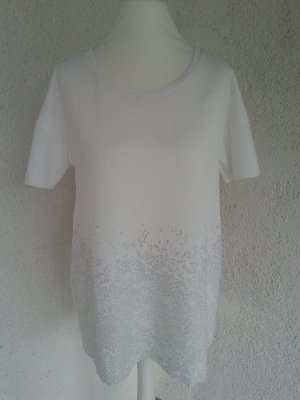 Zara edles Shirt Gr.M/38 creme/silber neu