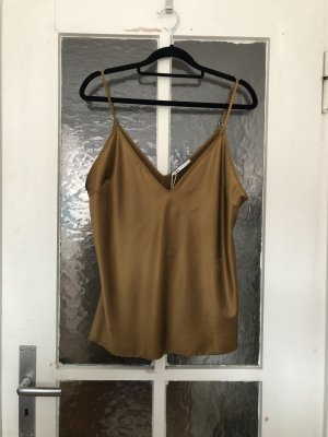 Zara Silk Top bronze-colored