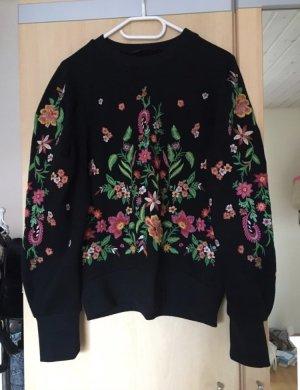 Zara Pull en laine noir laine