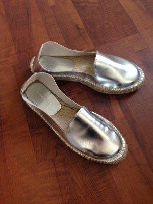 Zara espandrilles slipper silber Gr. 40