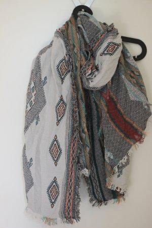 Zara Sjaal met franjes veelkleurig