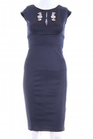 Zara Etuikleid blau Business-Look