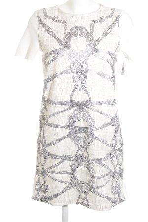 Zara Robe fourreau motif abstrait style décontracté