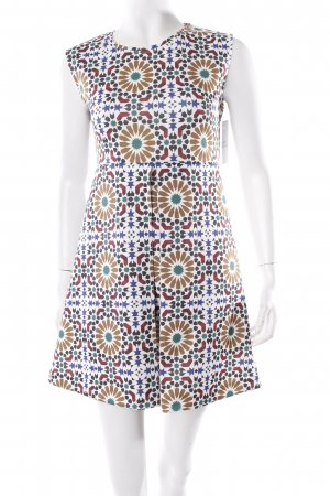 Zara Etuikleid abstraktes Muster extravaganter Stil