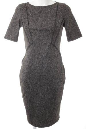 Zara Robe fourreau noir-gris motif à carreaux élégant
