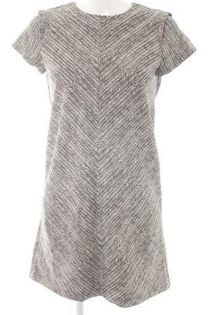 Zara Etuikleid schwarz-weiß Fischgrätmuster 80ies-Stil