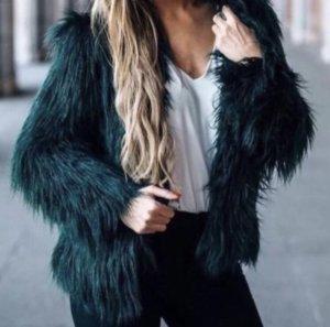Zara Jack van imitatiebont khaki-donkergroen