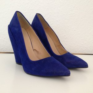 Zara Fake-Keil-Wedges in Electric-Blue