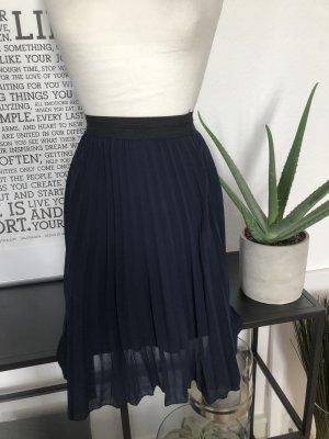 28c9f0325 Zara Falda a cuadros azul oscuro