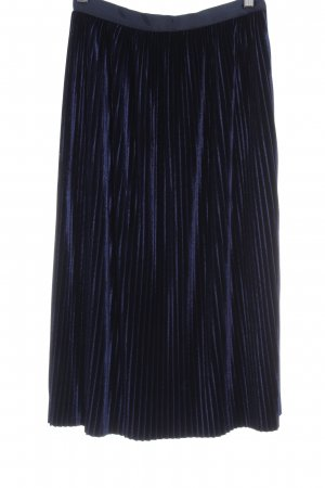 Zara Faltenrock blau Business-Look