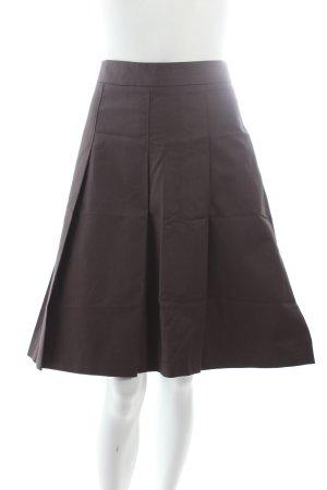 Zara Faltenrock graubraun schlichter Stil