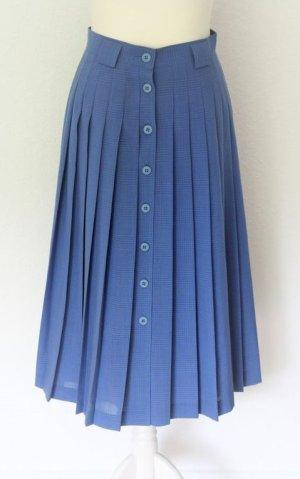 Zara Faltenrock Midirock blau