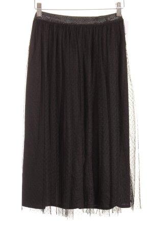 Zara Jupe à plis noir motif de tache style mode des rues
