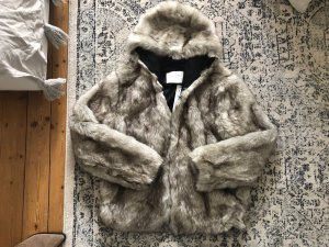 ZARA Faux Fur Jacke Kapuze Teddy Top