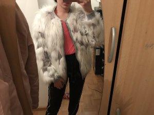 Zara Veste en fourrure multicolore