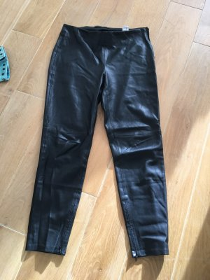 Zara faux leather skinny Gr. L schwarz