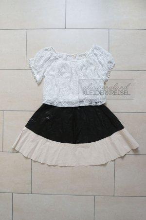 Zara Faux Leather Skirt mit elastischem Bündchen