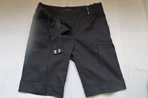 Zara,feine Bermuda Bundfalten Business Hose,Gr.XS,schwarz