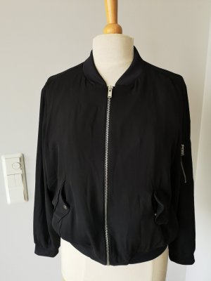 Zara Basic Giacca bomber nero-argento