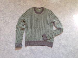 Zara Pull gris vert