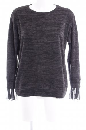 Zara Fine Knitted Cardigan anthracite-black flecked casual look