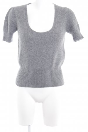 Zara Fine Knitted Cardigan grey simple style