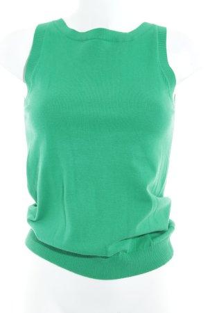 Zara Feinstrickpullunder grün Casual-Look