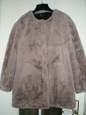 Zara Trafaluc Fake Fur Coat beige fake fur