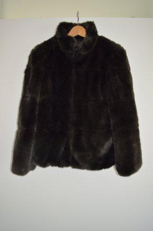 Zara Fur Jacket multicolored