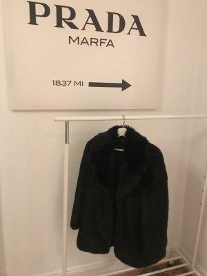 Zara Veste en fourrure noir-gris foncé pelage