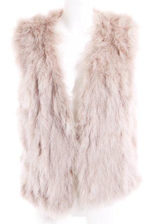 Zara Smanicato di pelliccia rosa antico stile stravagante