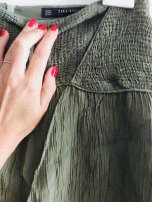 Zara Festival Hippiechic Blogger Skirt Olive XS wie neu
