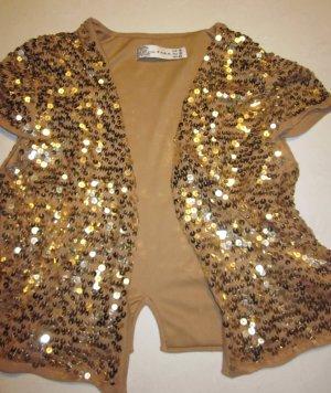 Zara Gilet tricoté multicolore tissu mixte