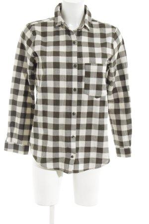 Zara Flannel Shirt black-white allover print simple style