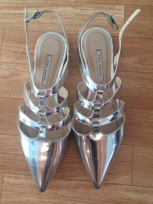 Zara Flats in Metallic