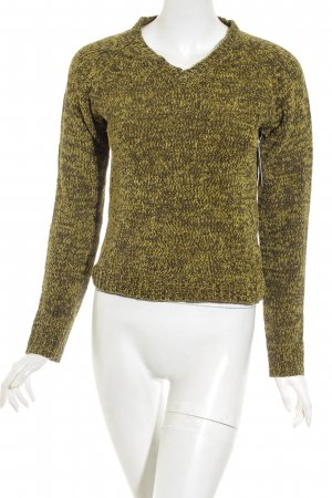 Zara Fleecepullover hellgrün-waldgrün Farbverlauf Casual-Look