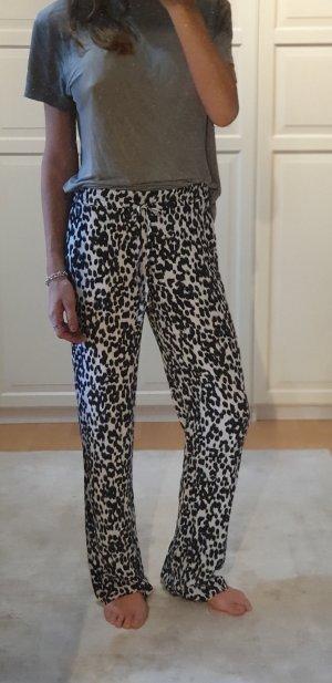 Zara Stoffen broek wit-zwart