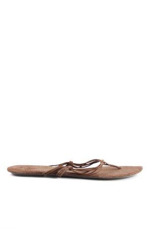 Zara Flip Flop Sandalen braun Casual-Look