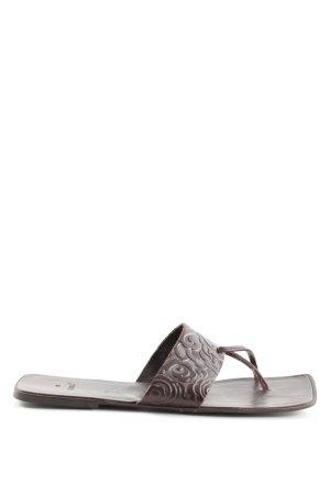 Zara Flip Flop Sandalen braun Street-Fashion-Look