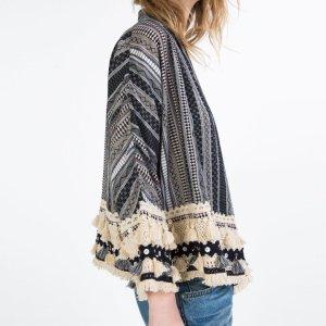 Zara Folk Style Kimono Jacke M Marrakesch Style - ausverkauft