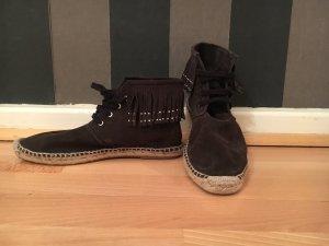 Zara Fransen-Boots mit Espandrille-Sohle