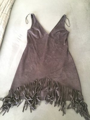 Zara Fringed Dress anthracite