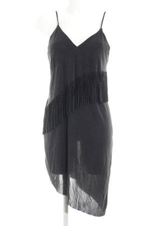 Zara Fransenkleid schwarz Elegant