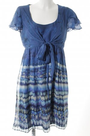 Zara Fringed Dress abstract pattern casual look