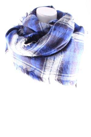 Zara Écharpe à franges motif à carreaux style décontracté
