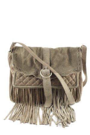 Zara Fringed Bag olive green street-fashion look