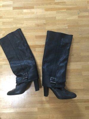 Zara Gamaschen Gaiter Boots Stiefel Echtleder Leder 37 38 Blogger