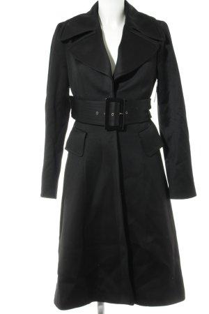 Zara Geklede jas zwart elegant