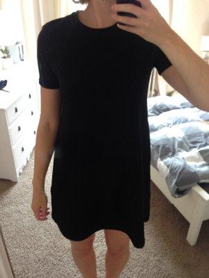 Zara gemustertes schwarzes Kleid
