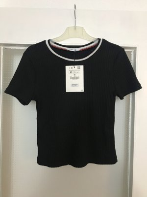 Zara Ribbed Shirt black-white